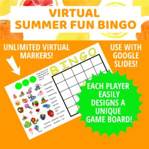 Summer Fun Bingo board